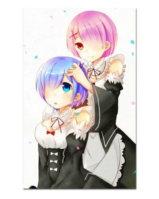 Ímã Decorativo Rem e Ram - Re:Zero - IRZ07