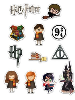 Ímãs Decorativos Harry Potter Set A - 12 unid