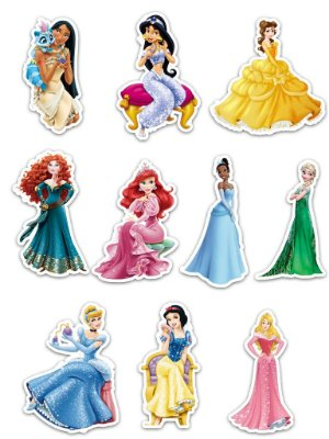 Ímãs Decorativos Princesas Disney Set C - 10 unid