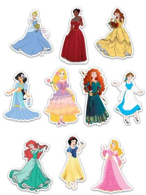 Ímãs Decorativos Princesas Disney Set D - 10 unid