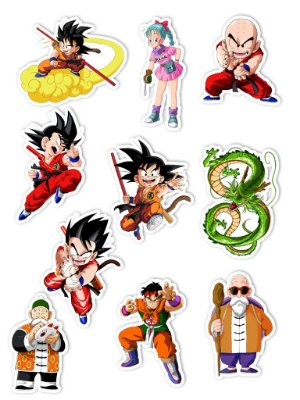 Ímãs Decorativos Dragon Ball Set G - 10 unid