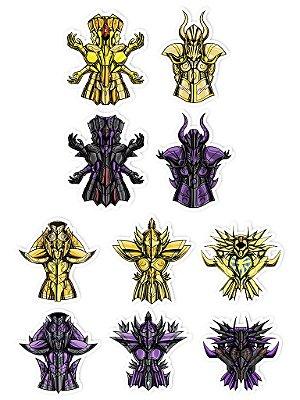 Ímãs Decorativos Cavaleiros do Zodíaco Set B - 10 unid