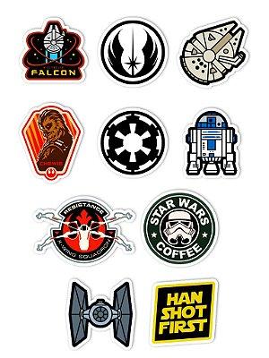 Ímãs Decorativos Star Wars Set B - 10 unid