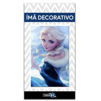 Ímã Decorativo Elsa Frozen - Disney - IPD40