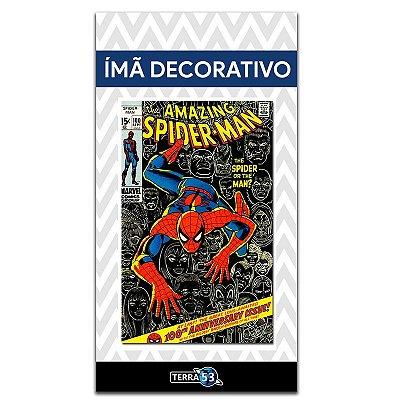 Ímã Decorativo Capa de Quadrinhos - Spider-Man - CQM06