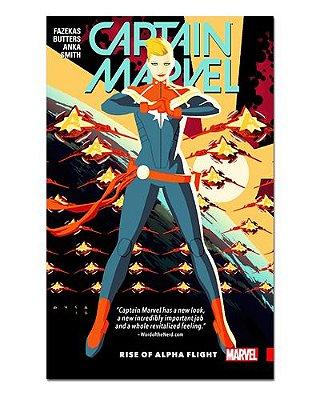 Ímã Decorativo Capa de Quadrinhos - Capitã Marvel - CQM18