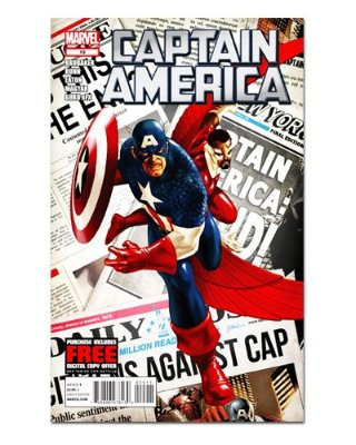 Ímã Decorativo Capa de Quadrinhos - Capitão América - CQM21
