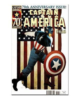 Ímã Decorativo Capa de Quadrinhos - Capitão América - CQM26