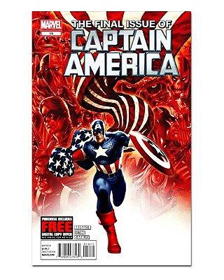 Ímã Decorativo Capa de Quadrinhos - Capitão América - CQM27