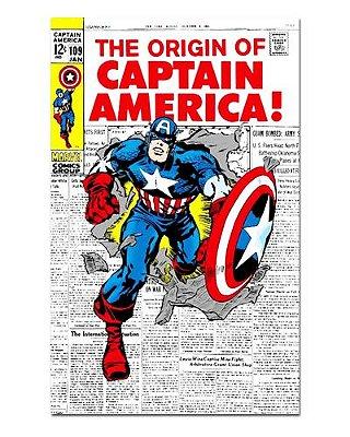 Ímã Decorativo Capa de Quadrinhos - Capitão América - CQM28