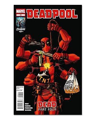 Ímã Decorativo Capa de Quadrinhos Deadpool - CQM35
