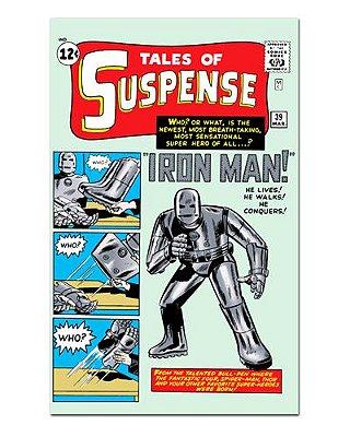 Ímã Decorativo Capa de Quadrinhos - Iron Man - CQM69
