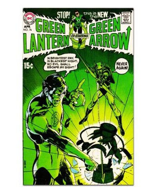Ímã Decorativo Capa de Quadrinhos - Arqueiro Verde - CQD07