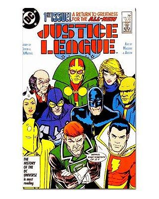 Ímã Decorativo Capa de Quadrinhos - Liga da Justiça - CQD73
