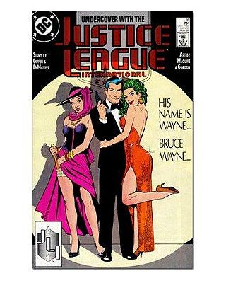 Ímã Decorativo Capa de Quadrinhos - Liga da Justiça Internacional - CQD89