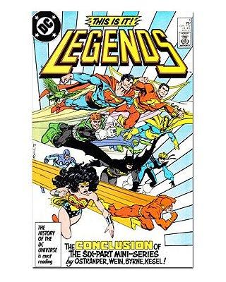Ímã Decorativo Capa de Quadrinhos Sagas DC - CQD120