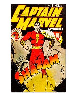 Ímã Decorativo Capa de Quadrinhos Shazam - CQD138