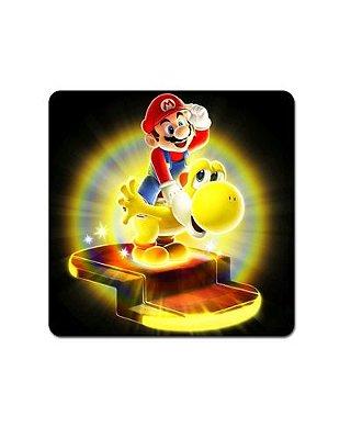 Ímã Decorativo Mario e Yellow Yoshi - Super Mario - IMB04