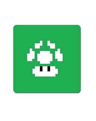 Ímã Decorativo Cogumelo Verde - Super Mario - IMB07