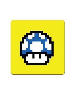 Ímã Decorativo Cogumelo Azul - Super Mario - IMB13