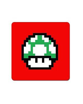 Ímã Decorativo Cogumelo Verde - Super Mario - IMB16