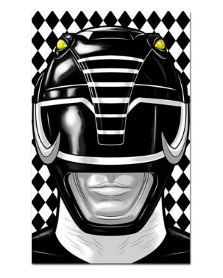 Ímã Decorativo Ranger Preto - Power Rangers - ITOK03