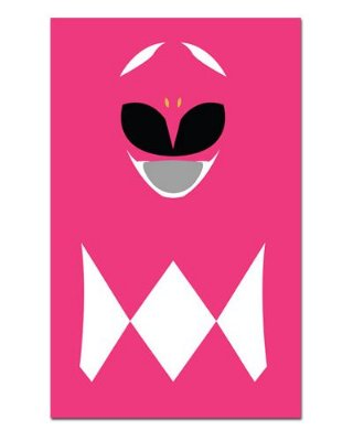 Ímã Decorativo Ranger Rosa - Power Rangers - ITOK10