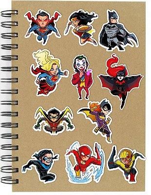 Adesivos DC Comics Set A - 11 unid