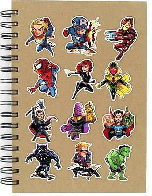 Adesivos Marvel Comics Set A - 12 unid