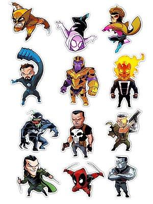 Ímãs Decorativos Marvel Comics Set B - 12 unid