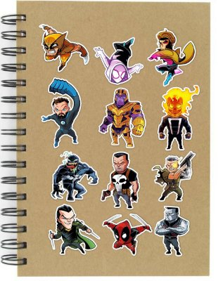 Adesivos Marvel Comics Set B - 12 unid