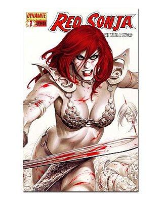Ímã Decorativo Capa de Quadrinhos Red Sonja - CQO09