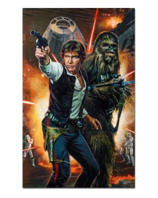 Ímã Decorativo Han Solo e Chewbacca - Star Wars - ISW26