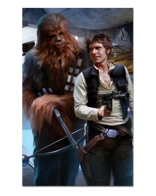 Ímã Decorativo Han Solo e Chewbacca - Star Wars - ISW28