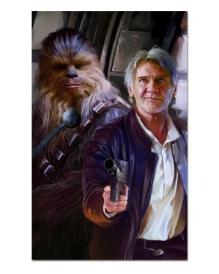Ímã Decorativo Han Solo e Chewbacca - Star Wars - ISW29