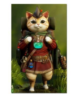 Ímã Decorativo Gato Aventureiro - Pet Cat - IGAT09