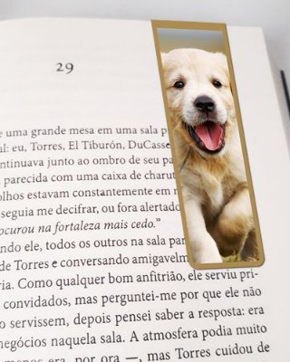 Marcador De Página Magnético Golden Retriever - Pet Dog - MDOG02