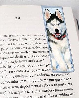 Marcador De Página Magnético Husky Siberiano - Pet Dog - MDOG10