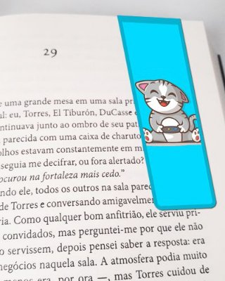 Marcador De Página Magnético Cute Cat - Pet Cat - MCAT04