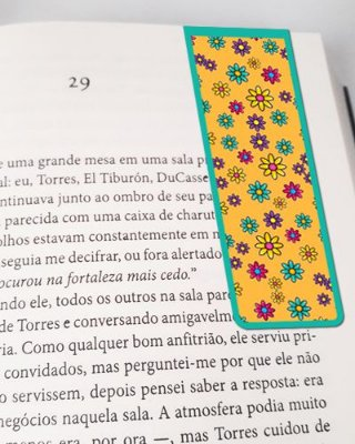 Marcador De Página Magnético Flores - Cute - MFE74