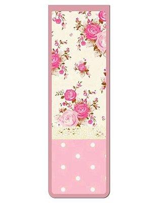Marcador De Página Magnético Flores - Cute - MFE75