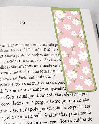 Marcador De Página Magnético Flores - Cute - MFE82