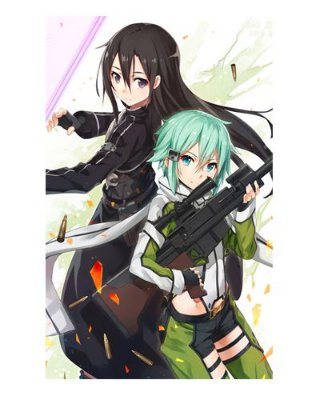 Ímã Decorativo Sinon e Kirito - Sword Art Online - ISAO13