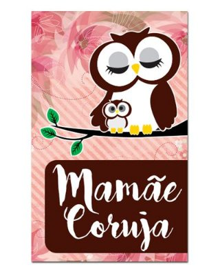 Ímã Decorativo Mamãe Coruja - Cute - IDF06