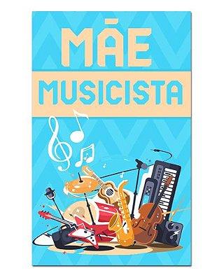 Ímã Decorativo Mãe Musicista - Cute - IDF28