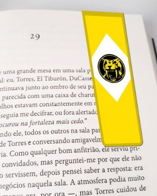 Marcador De Página Magnético Ranger Amarelo - Power Rangers - MAT05