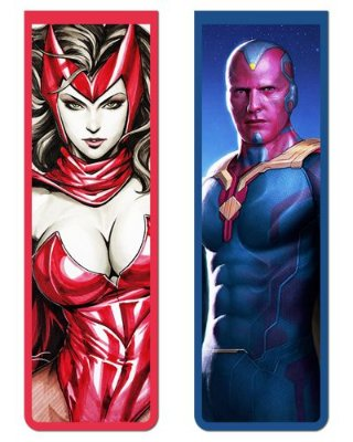 Pack Marcador Magnético - Vision e Scarlet Witch - PKN15