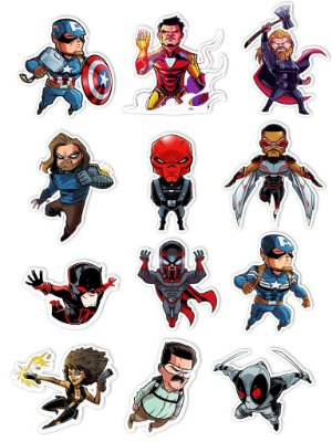 Ímãs Decorativos Marvel Comics Set D - 12 unid