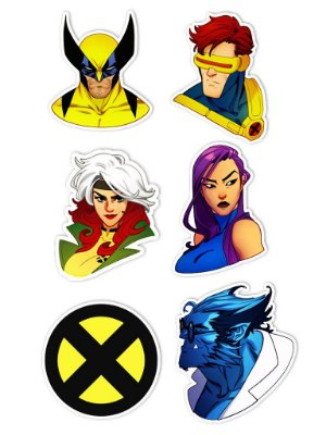 Ímãs Decorativos X-Men Set A - 6 unid