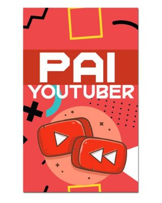 Ímã Decorativo Pai Youtuber - Cute - IDF31